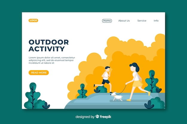 Outdoor activities landing page template