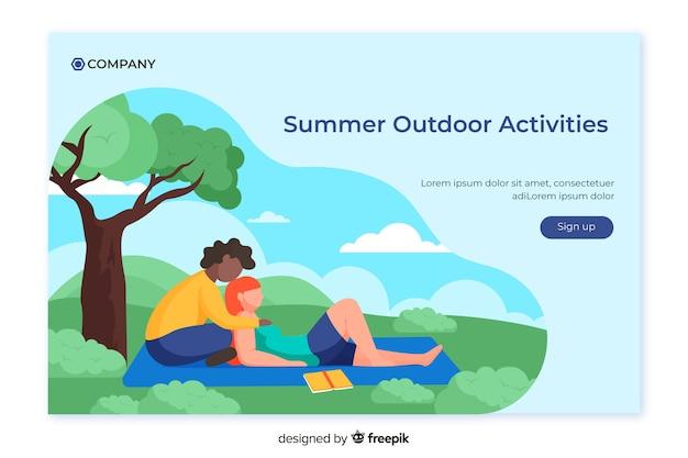 Outdoor activities landing page template