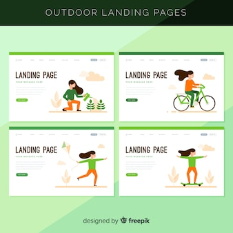 Outdoor activities landing page