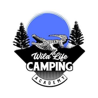 Открытый приключенческий и охотничий спортивный клуб знак или вектор значка