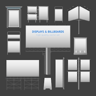 Outdoor advertisement elements