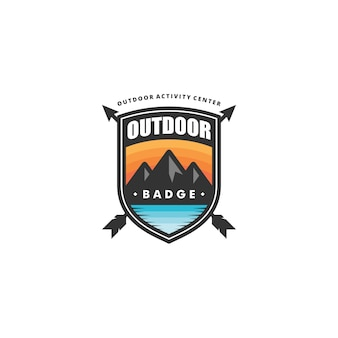 Outdoor badge concept illustration vector template