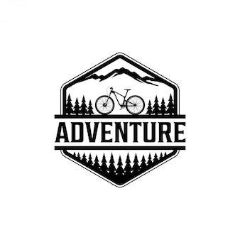 Outdoor  biking in the wild logo