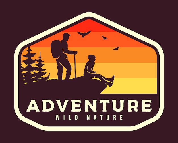 Outdoor hiking badge