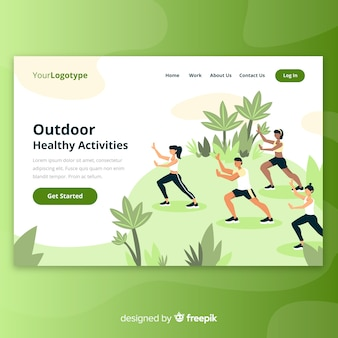 Outdoor landing page