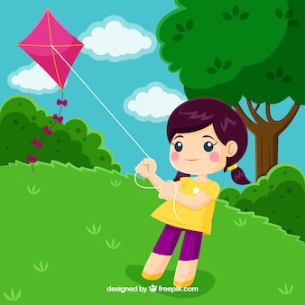 Outdoor leisure activities concept with flat design