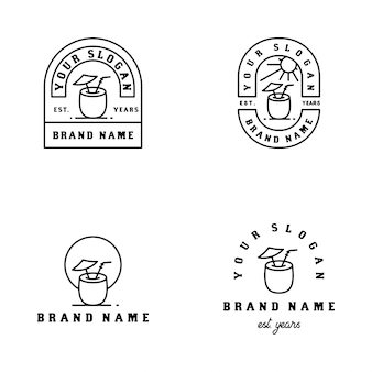 Outdoor minimalist badge design
