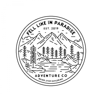 Outdoor monoline badge design