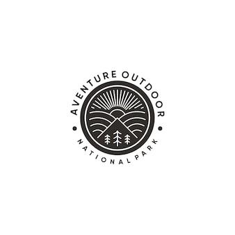 Outdoor mountain logo