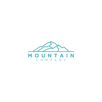 Outdoor mountain nature logo, adventure wildlife pine tree forest