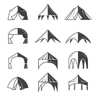 Outdoor party event buildings pavilion marquee tent collection