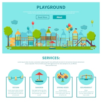 Outdoor playground illustration