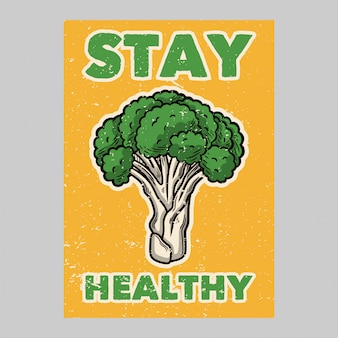 Outdoor poster design stay healthy vintage