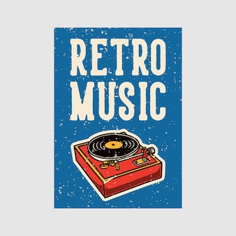 Outdoor poster  retro music vintage illustration