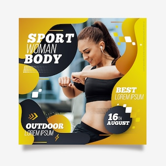 Outdoor sport flyer template