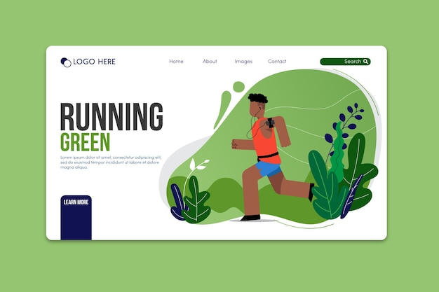 Outdoor sport landing page template