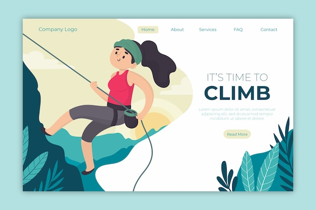 Outdoor sport landing page
