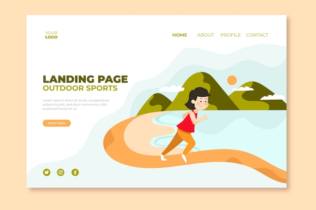 Outdoor sport template landing page