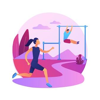 屋外トレーニングトレーニング。健康的なライフスタイル、野外ジョギング、フィットネス活動。公園で走っている男性アスリート。屋外で運動する筋肉のスポーツマン。