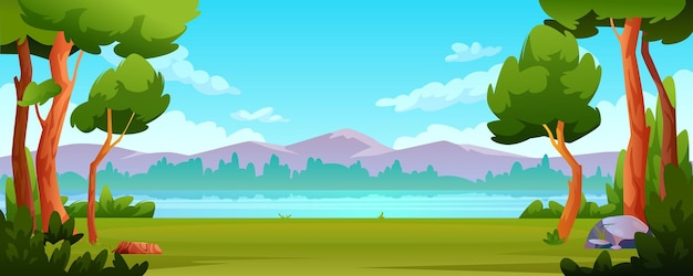 Outdoors scenery background trees river landscape