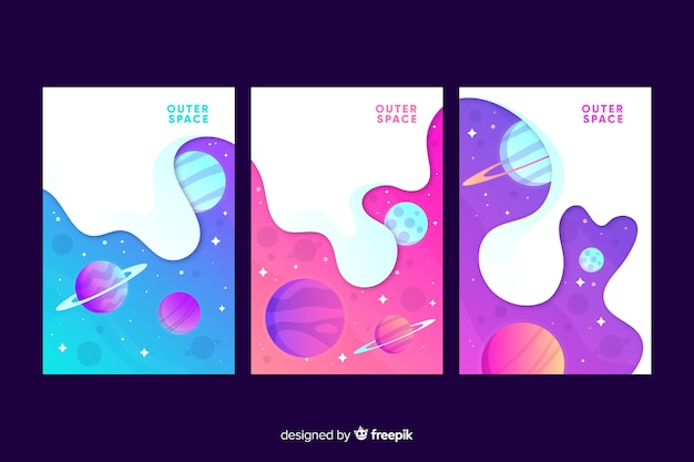Outer space cover collection