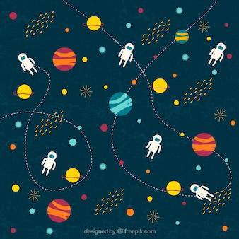 Outer space illustrazione