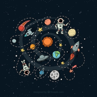 Outer space illustration