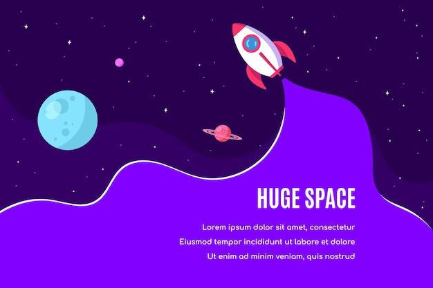 우주, 과학, 천문학 및 astrophysich 배너 템플릿 디자인