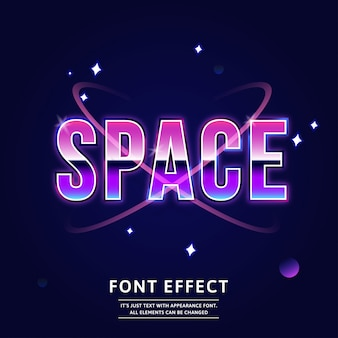 Outer space title modern editable typeface future text effect