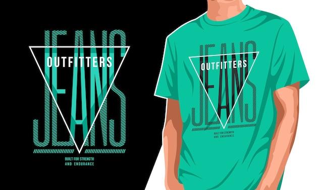 Дизайн футболки outfitter jeans