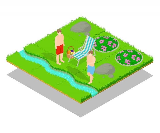 Outing concept scene