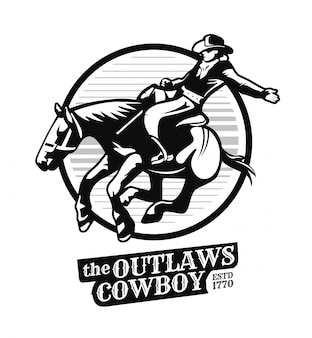 Outlaws cowboys illustration