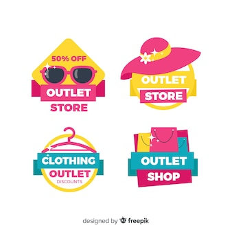 Outlet label collection