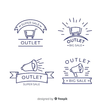 Outlet labels collection