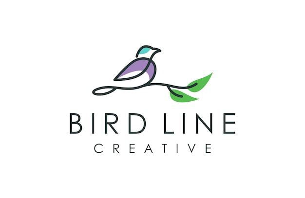 Outline bird logo