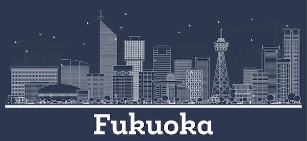 白い建物の福岡ジャパンシティスカイラインの概要。図