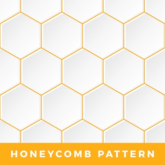 Outline hexagon honeycomb pattern.