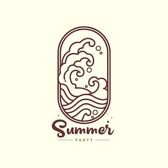 夏のロゴの波の概要図
