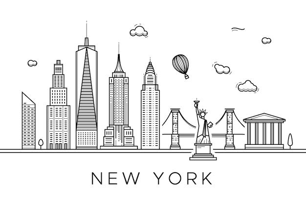 Outline landmarks skyline design