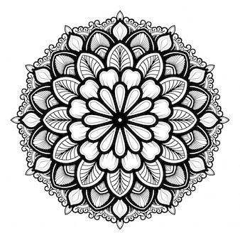 Outline mandala decoration