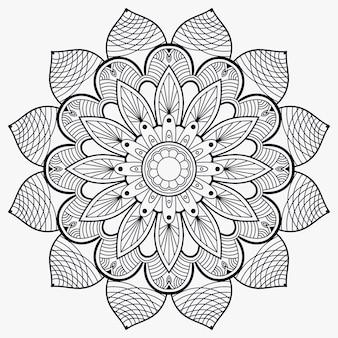 Outline mandala decorative ornament premium
