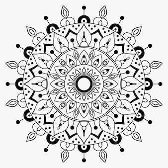 Outline mandala decorative ornament premium