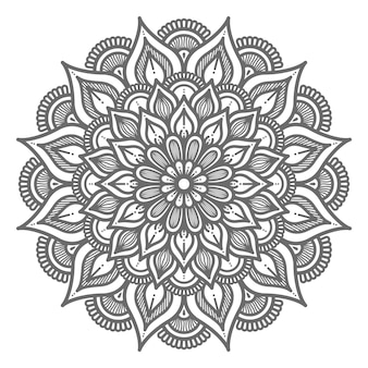 Outline ornamental mandala illustration for abstract and decorative concept