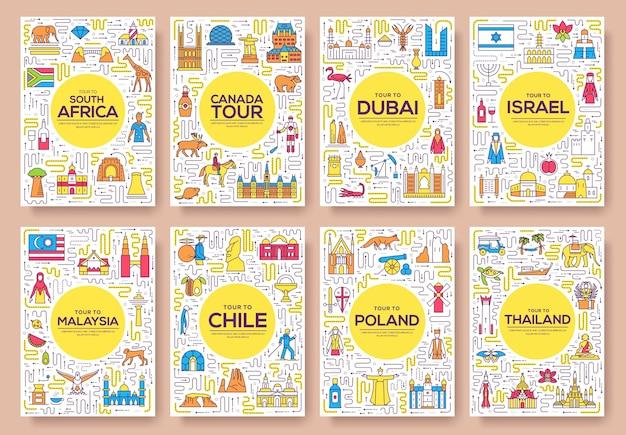 Наброски пакета поздравительных открыток или приглашений