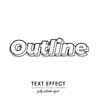 Outline premium text style