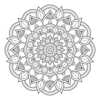 Outline style abstract and decorative concept mandala illustration