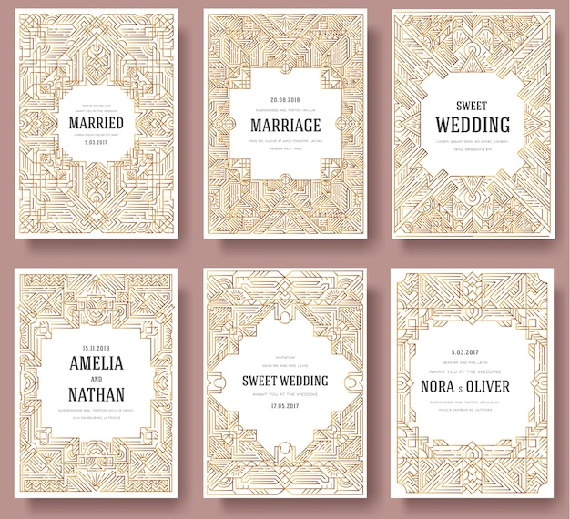 Outline template of flyear, magazines, banners.hipster decorative retro greeting card or invitation.