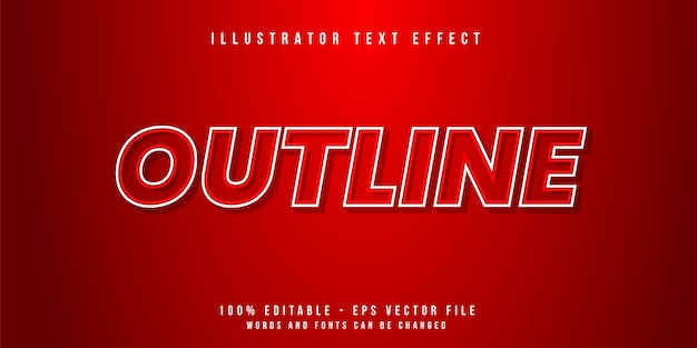 Outline text style effect