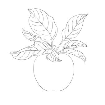 Изложил яблоко фрукты значок черный силуэт логотип вектор элемент дизайна