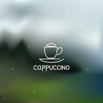 Outlined capuccino coffee icon design